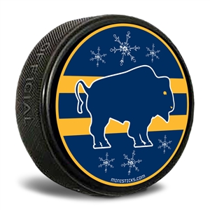 Buffalo Blue/Gold Hockey Puck