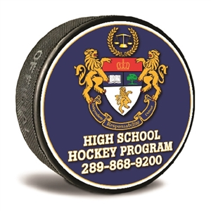 custom printed pucks soft hockey puck or chuck a puck promotional puck