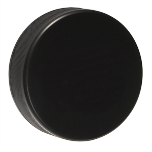 black hockey puck, foam hockey puck black