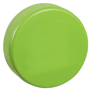 soft green hockey puck is soft like a stress ball