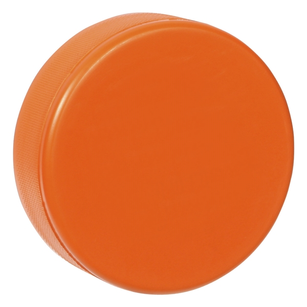 soft orange hockey puck, foam hockey puck orange