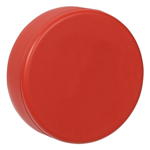 red hockey puck, foam hockey puck red