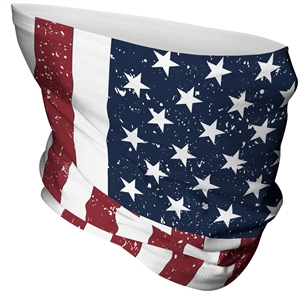 red white and blue patriotic flag gaiter