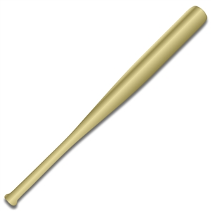 gold mini baseball bat