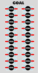 GOAL - single sheet helmet decal sheet