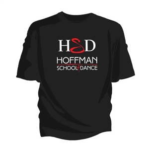 Hoffman Dance Studio tee shirt with logo.