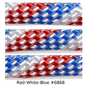 Red White Blue  lacrosse string to put on your lacrosse stick