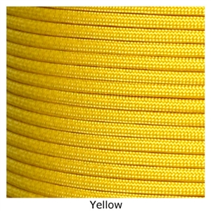 Yellow lacrosse string paracord crosslace