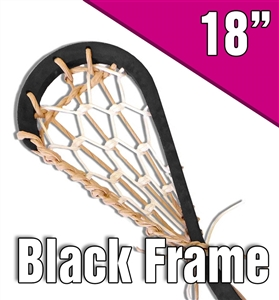 black lacrosse stick<br>natural and white laces