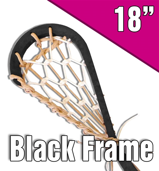 original style black lacrosse stick<br>natural and white laces