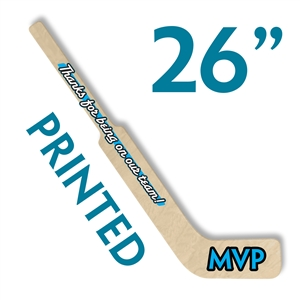 custom printed wood mini goalie stick