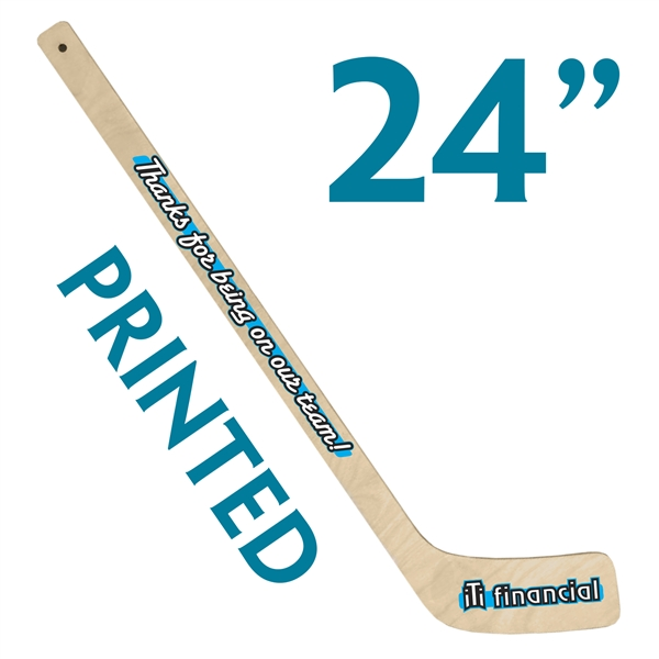 custom printed wood mini hockey stick