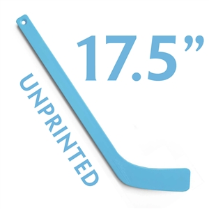 unprinted light blue plastic mini hockey stick 17.5""