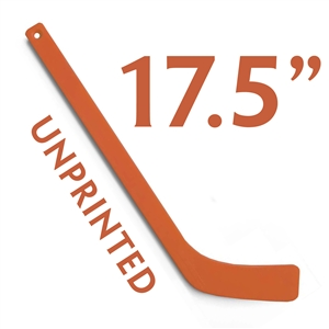 unprinted orange plastic mini hockey stick 17.5""