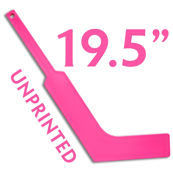 unprinted plastic HOT PINK <br>mini goalie stick