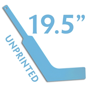 unprinted plastic light blue mini goalie stick 19.5""