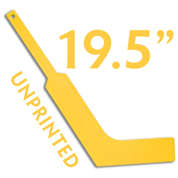 unprinted plastic YELLOW <br>mini goalie stick
