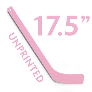 unprinted pink plastic mini hockey stick 17.5""