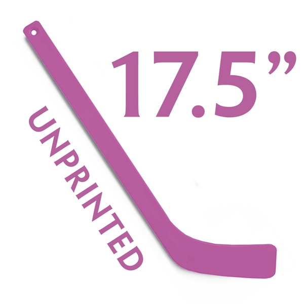 unprinted purple plastic mini hockey stick 17.5""