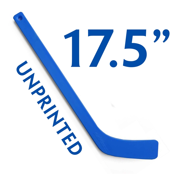 unprinted pepsi blue plastic mini hockey stick 17.5""