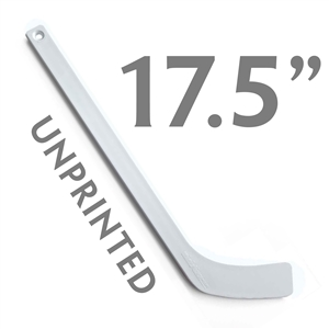 unprinted white plastic mini hockey stick 17.5""