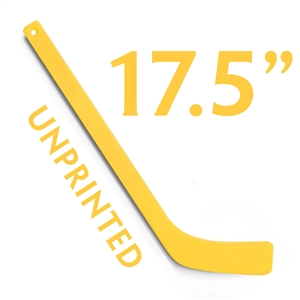 unprinted yellow plastic mini hockey stick 17.5""