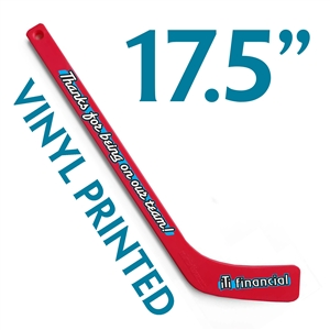 custom printed plastic mini hockey stick