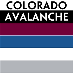 Colorado Avalanche team colors custom printed mini hockey stick. Personalized mini hockey stick by ministixx.