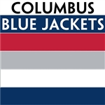 Columbus Blue Jackets team colors custom printed mini hockey stick. Personalized mini hockey stick by ministixx.