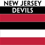 New Jersey Devils team colors custom printed mini hockey stick. Personalized mini hockey stick by ministixx.