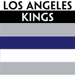 Los Angeles Kings team colors custom printed mini hockey stick. Personalized mini hockey stick by ministixx.