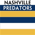 Nashville Predators team colors custom printed mini hockey stick. Personalized mini hockey stick by ministixx.