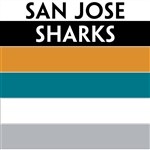 San Jose Sharks team colors custom printed mini hockey stick. Personalized mini hockey stick by ministixx.