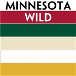 Minnesota Wild team colors custom printed mini hockey stick. Personalized mini hockey stick by ministixx.