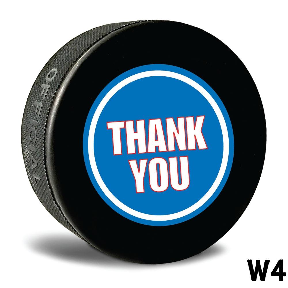 Thank You Hockey Puck Printed Hockey Pucks