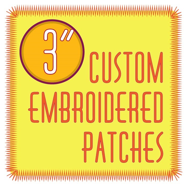 "custom patches 3.0"" embroidered custom embroidered patches 3.0"""
