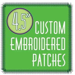 "custom patches 4.5"" embroidered custom embroidered patches 4.5"""