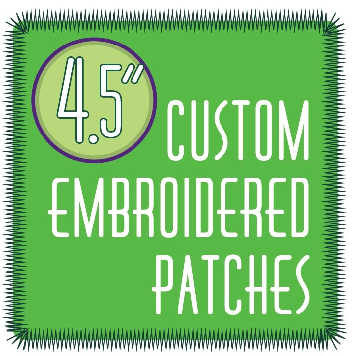 Custom Embroidered Patches 4 5