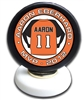 personalized mounted hockey puck trophy