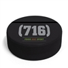 hockey puck business card holder, hockey party place card holder, custom printed hockey puck, official game puck, hockey puck custom, hockey puck game, game pucks, full color screen printed pucks, puck for hockey tournament