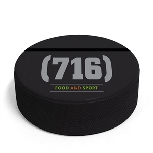 hockey puck business card holder can be a custom printed puck or a logo puck