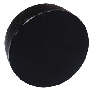 Black Glass Hockey Puck UnMounted