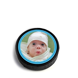 hard rubber hockey puck magnet can be custom printed pucks