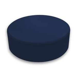 dark blue hockey puck is not  custom printed pucks