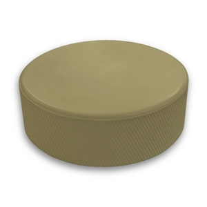 Gold hockey puck not a custom printed puck