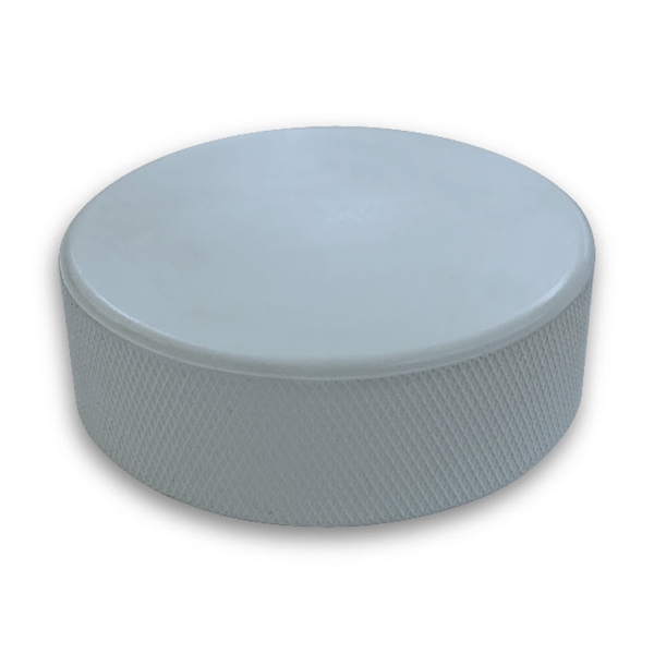 light blue hockey puck is not  custom printed pucks