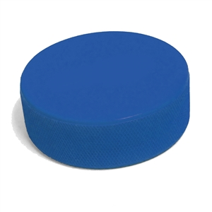 medium blue hockey pucknot a custom printed puck