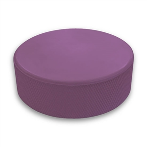 purple hockey puck not a custom printed puck