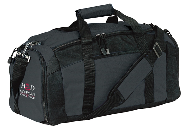 Black duffle bag to hold your belongings.