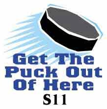Get puck out hockey tee shirt hockey gift
